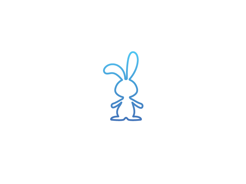 Twitchy Rabbit thirty logos thirtylogos logotype graphic design design branding thirtydays logo