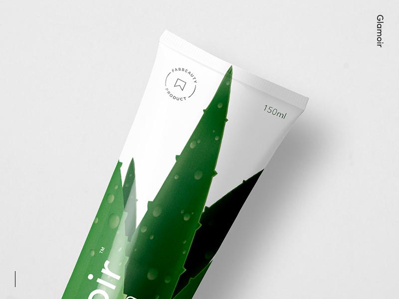Glamoir Branding natural fruits logo design packaging cosmetics branding