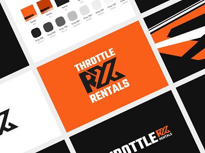 Throttle RX Rentals - Branding brand identity design logo brand design branding design branding