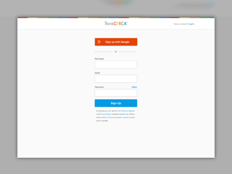 Onboarding   sign up