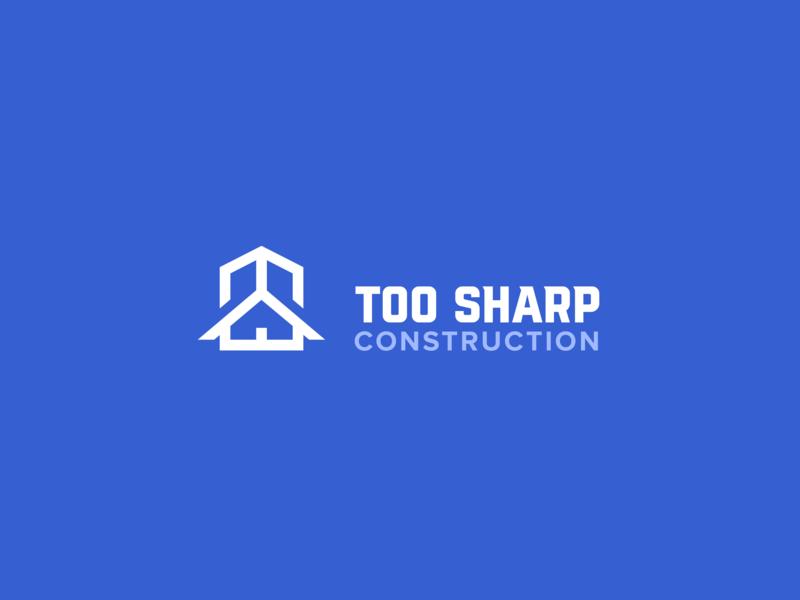 Too Sharp Brand Identity mark logodesign logotype construction website general contractor construction company construction logo brand identity branding logo design