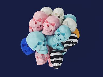 Bunch of Skulls made my day pattern cinema 4d skull render c4d 3d