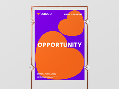 Opportunity print heart typography poster badoo