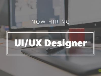 Now Hiring UI/UX Designer