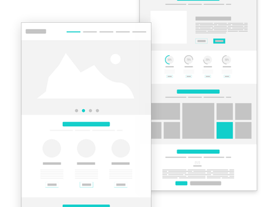 Wireframe | One Page Website | Low Fidelity Wireframe ux ui wireframe uiux