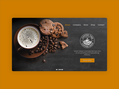 Web Banner | Coffee Shop | UI Design ui