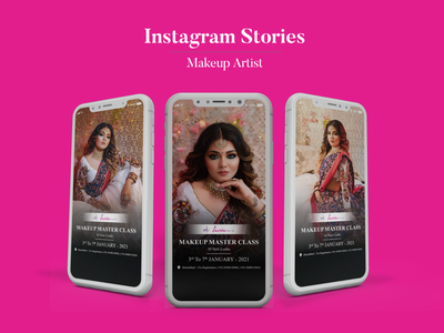 Instagram Stories | Makeup Artist graphic design instagram stories instagram