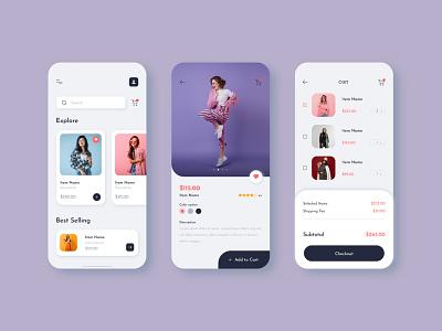 Shopping | Mobile App UI | UI Design mobile app ui mobile app design uiux design ui