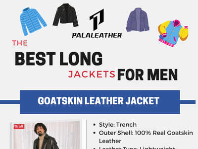 Long Leather Jackets  For Men leather coats