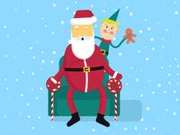 Merry Christmas - Santa claus illustration