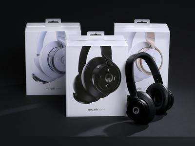 Muzik One Wireless Headphones Packaging
