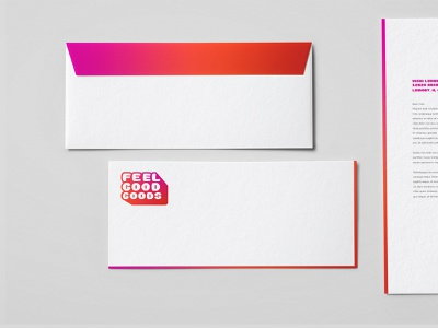 Feel Good Goods graphic design textiles goods design pink branding