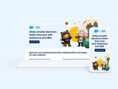 Salesforce IBM Partnership Page astro web web design salesforce web site landing page
