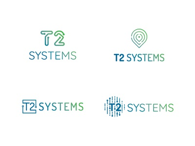 T2 Systems Logo Concepts solutions branding sketches logo options parking management logos