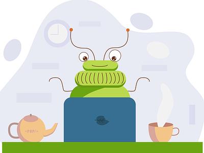 Teabug vector illustration vector art vector avatar flat design