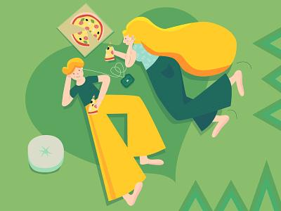 Lovely couple flat illustration couple lovely lovers love vector flat illustration