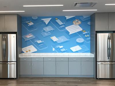 Boston office mural