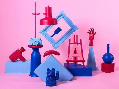 Visual Playground 2017 sprayed-objects graphic-design illustration fun festival