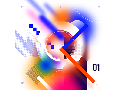 xd//01 poster vector typography colors gradients geometric abstract illustration adobe xd