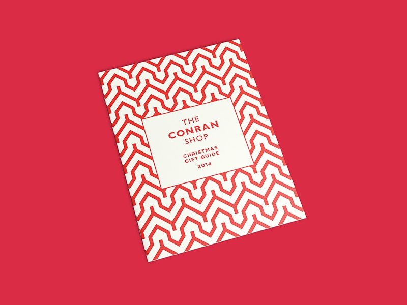 The Conran Shop Gifte Guide Cover saddle stitch retouch luxury london product design geometric brochure layout photography pattern editorial