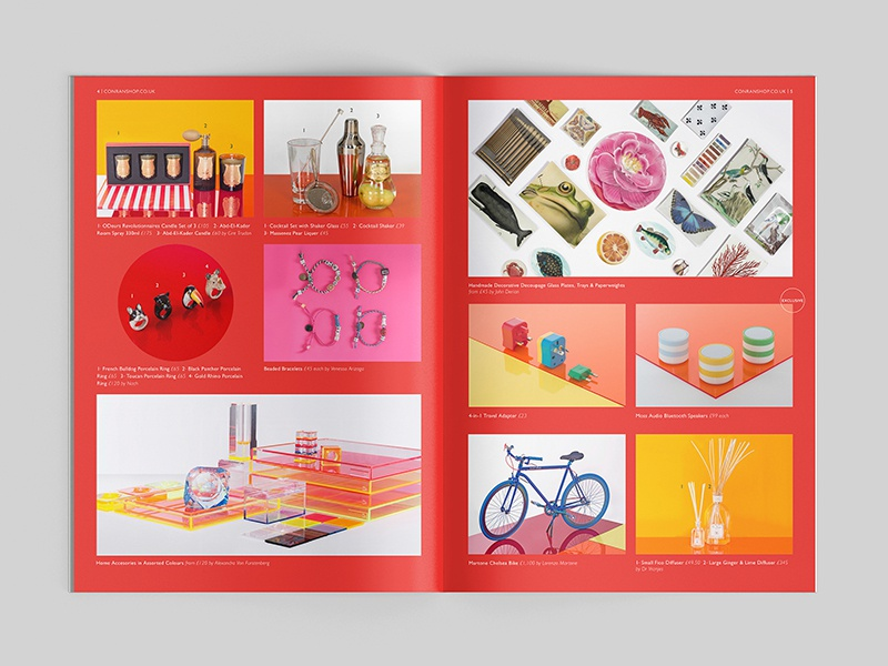 The Conran Shop Content saddle stitch retouch luxury london product design geometric brochure layout photography pattern editorial