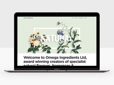Landing Page, Omega Ingredients