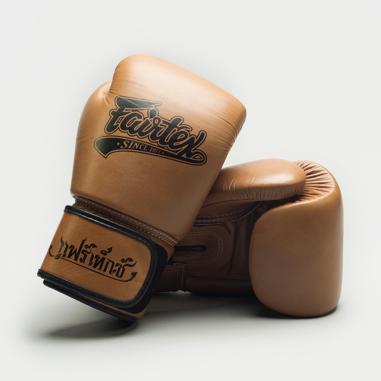 Fairtex gloves brown extra sq