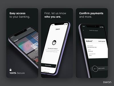 Swan Mobile App minimal branding startup ui design app flat ux fintech finance