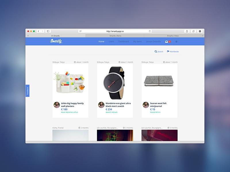 Smartly web app ui ux minimal clean smartly startup flat marketplace design dashboard