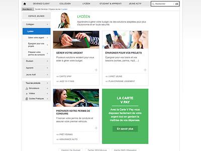 Societe Generale Jeunes web design clean website bank flat ui ux