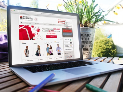 Societe Generale Jeunes web design clean website bank flat ui ux