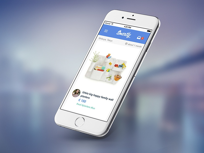 Smartly Mobile ui mobile iphone flat ux app smartly minimal startup design clean ios
