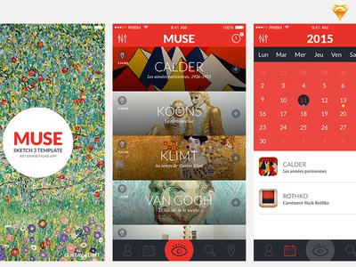 Muse ui ux sketch template free freebie app mobile flat mockup clean design
