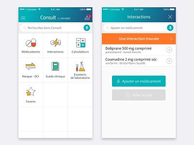 Consult iphone design mobile ux flat clean app ui