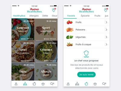 HealthyBox ios iphone design mobile ux flat clean app ui