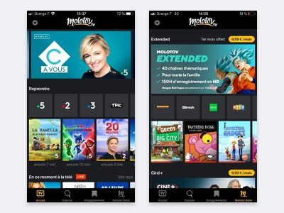 Molotov ios iphone design mobile ux flat clean app ui