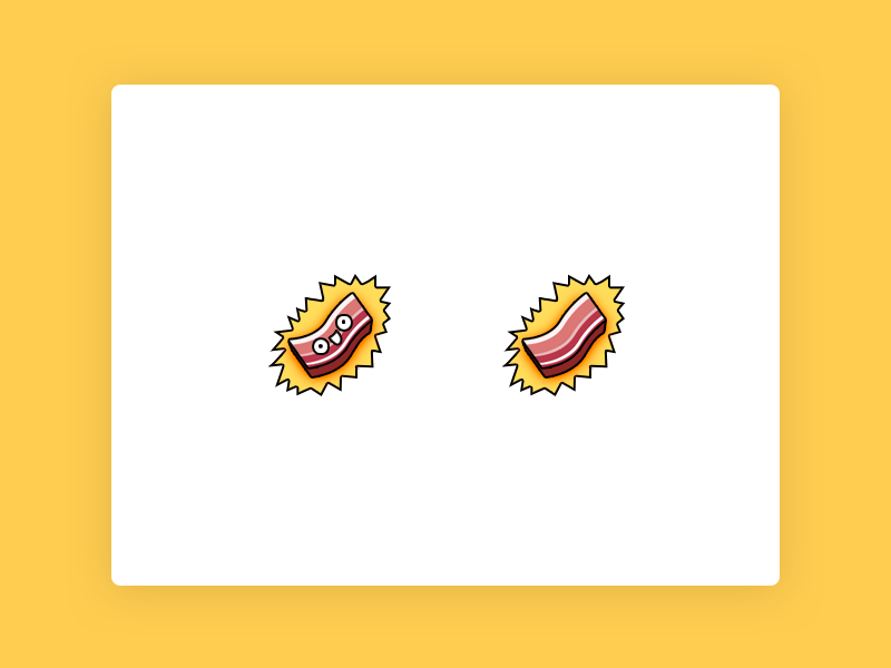 Twitch - Bacon emotes twitch creative twitch bacon emoticon illustration icon bacon icon
