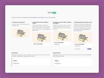 Twitch Creative - Mini Design System guidelines visual design design elements design patterns pattern library sass css twitch design system