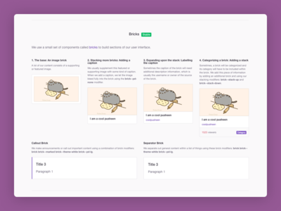 Twitch Creative - Mini Design System guidelines visual design design elements design patterns pattern library sass css twitch design system