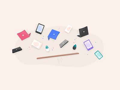 Device Management Illustration devices illustration