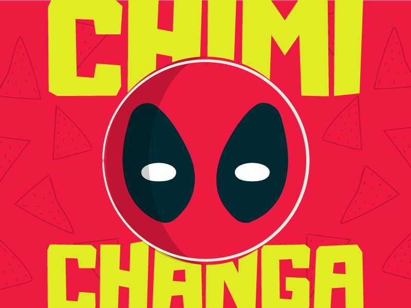 Deadpool Don't Even Like Chimichangas All That Much Illustration pop culture fandom sdcc comic con chimichanga marvel illustration deadpool