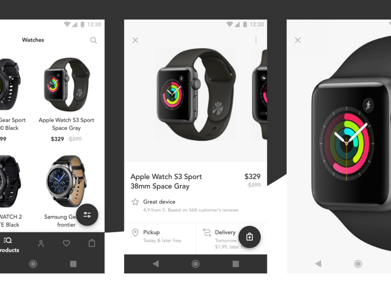 Ecommerce sketches material design 2 ui app android ecommerce