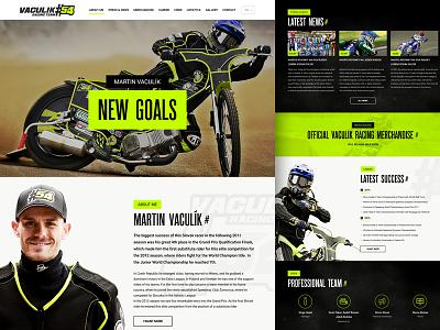Vaculik Racing race speed moto responsive dark green racing
