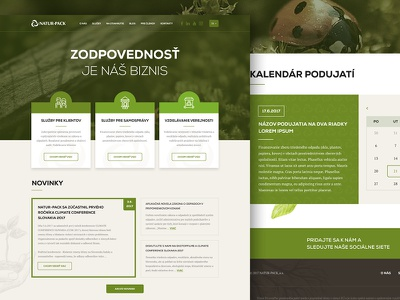 Eco package system corporate creative modern landingpage green ux ui system package webdesign eco