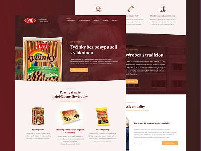 DRU web ux ui site page modern layout landing design corporate red orange