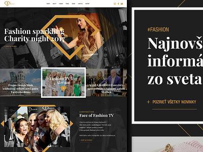 Fashion TV black gold webdesign ux ui lifestyle design travel events beauty tv fashion