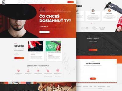 N Dance Company kids academy dance page web layout modern landing webdesign ux ui creative