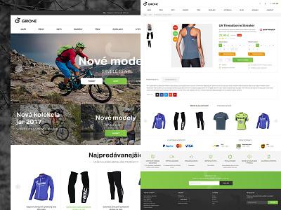 Girone shop accessories bike page web layout modern landing webdesign ux ui creative