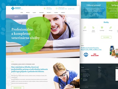 Zoovet ux webdesign page modern layout landing doctor veterinary animal creative