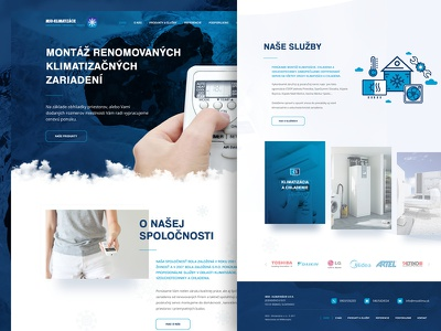 MSO Klimatizacie ux ui page webdesign web layout landing warm cold breeze cooling air conditiion